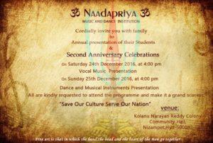 naadapriya 2nd Anniversary